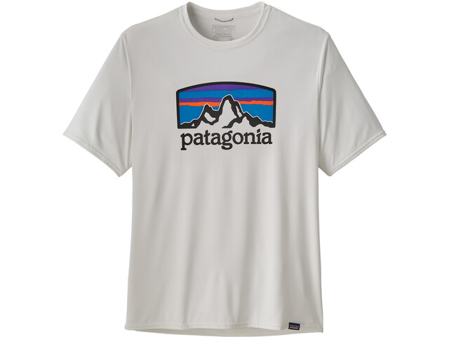 Patagonia Cap Cool Daily Graphic T-Shirt Uomo, fitz roy horizons/white